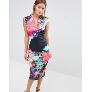 Ted Baker Brynee Floral Bodycon Dress size 4